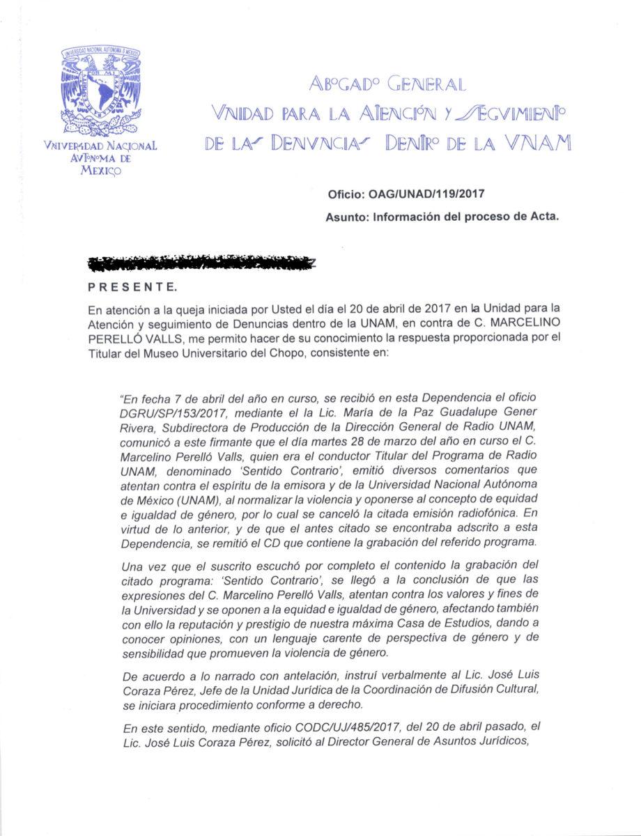 Grupo que denunció a Perelló acusa que la UNAM haya aceptado su ...